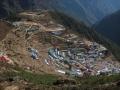 Namche Bazaar from above