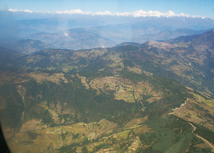 view from flight to lukla