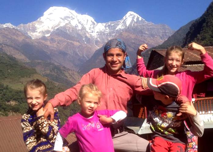 Family luxury trekking
